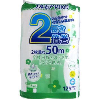 Kami Shodji «Ellemoi Piko» Ароматизированная двухслойная туалетная бумага, 50 м, 12 рулонов.