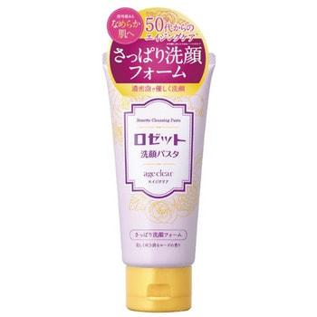 ROSETTE «Age Clear» Пенка для умывания для нормальной и жирной зрелой кожи, с мембраной яичной скорлупы, маслами граната, клюквы и малины, с ароматом розы, 120 г.