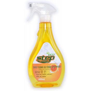 KMPC «Orange Step Multi-Purpose Cleaner» Универсальное жидкое чистящее средство для дома, с апельсиновым маслом, 600 мл.