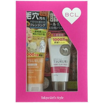 """BCL """"Tsururi"""" Подарочный набор """"Очищение пор"""": очищающий поры крем-гель с термоэффектом, 150 г + крем-маска с глиной для Т-зоны, 55 г. (фото)"""