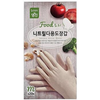 MyungJin «Hygienic Glove» Перчатки нитриловые хозяйственные, размер M, 20 шт.