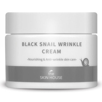 THE SKIN HOUSE «Black Snail Wrinkle Cream» Питательный крем с коллагеном и муцином чёрной улитки, 50 мл.