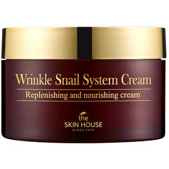 THE SKIN HOUSE «Wrinkle Snail System Cream» Антивозрастной крем на основе муцина улитки, 100 мл.