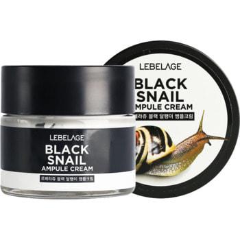 """Lebelage """"Black Snail Ampule Cream"""" Ампульный крем с муцином чёрной улитки, 70 мл."""
