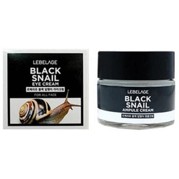 """Lebelage """"Black Snail Eye Cream"""" Крем с муцином чёрной улитки для области вокруг глаз, 70 мл."""