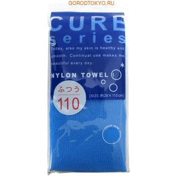 Ohe Corporation «Cure Nylon Towel» (Regular) массажная мочалка средней жесткости, голубая, 28 см. на 110 см. (фото)