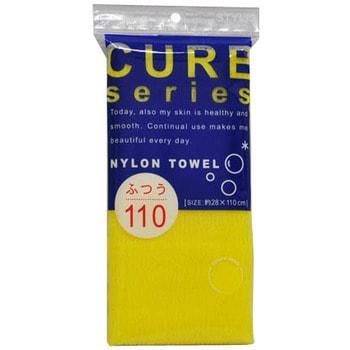 Ohe Corporation Cure Nylon Towel (Regular) / Массажная мочалка средней жесткости, 28 см. на 110 см.Мочалки средней жёсткости<br>Объёмное плетение нейлоновых нитей позволяет создавать нежную пену даже при минимальном количестве, используемого мыла. Применение этой мочалки, позволяет чувствовать себя прекрасно каждый день. Мочалка прекрасно массирует тело, очищает поры, стимулирует циркуляцию крови. После мытья мочалку необходимо очистить от остатков мыла и высушить.   Состав: 100% нейлон.<br>