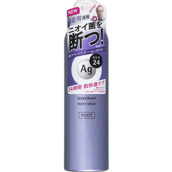 "Shiseido ""Ag Deo24"" Спрей дезодорант-антиперспирант для ног, с ионами серебра, без запаха, 142 г."