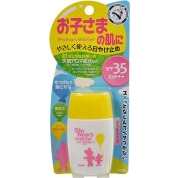 """Omi Brother """"Sun Bears"""" Нежный увлажняющий солнцезащитный гель для чувствительной кожи лица и тела, с экстрактом алоэ вера и маслами мяты и эвкалипта, SPF35 PA+++, 30 г."""