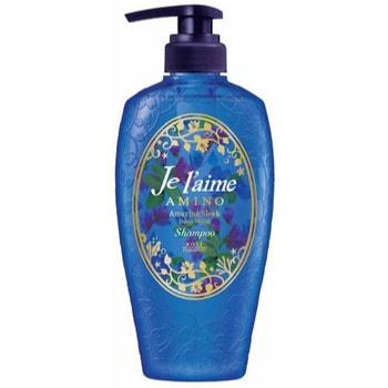 KOSE Cosmeport «Je l'aime - Amino» Шампунь для повреждённых волос «Глубокое увлажнение», с аминокислотами, цветочный аромат, 500 мл.