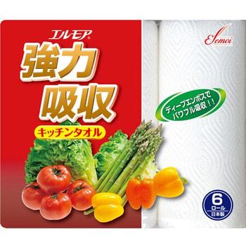 Kami Shodji Кухонные бумажные полотенца, 6 рулонов по 50 отрезков.Бумажные полотенца и салфетки<br>Кухонные бумажные полотенца изготовлены из высококачественного 100%-целлюлозного сырья.  Отлично впитывают и удерживают жидкость, эффективно удаляют загрязнения.  Обладают высокой прочностью.  Производятся из высококачественной целлюлозы.  Мягкие, очень приятные на ощупь, но в то же время достаточно прочные, с высокой влаговпитывающей способностью.  Бумажные полотенца всегда найдут себе применение: они прекрасно удаляют с поверхностей разлитые жидкости, впитывают влагу и жир, используются для протирания столов, стёкол и окон, плит, кухонной мебели.<br>