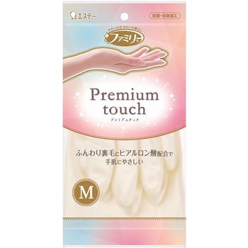 """ST """"Family"""" Виниловые перчатки, средней толщины, с внутренним покрытием и гиалуроновой кислотой, жемчужные, Размер M, 1 пара."""