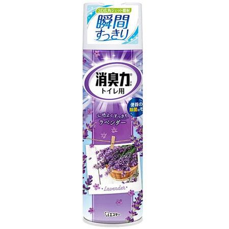 """ST """"Shoushuuriki"""" Спрей-освежитель для туалетов, с антибактериальным эффектом, аромат лаванды, 330 мл. (фото)"""