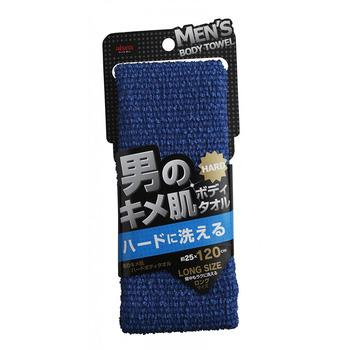 "Aisen ""Men's Skin Texture"" Мужская мочалка для тела, жёсткая, удлиненная, 25 х 120 см, 1 шт. (фото)"