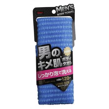"AISEN ""Men's Skin Texture"" Мужская мочалка для тела, жёсткая, удлиненная, 30 х 120 см, 1 шт. (фото)"