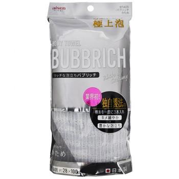 """Aisen """"Bubbrich"""" Мочалка для тела, с высоким пенообразованием, жёсткая, 28 х 100 см, 1 шт. (фото)"""