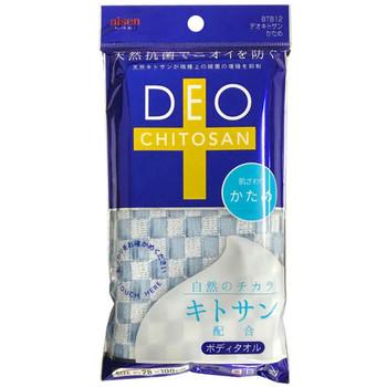 """Aisen """"Deo Chitosan"""" Мочалка для тела с хитозаном, жёсткая, голубая, 28 х 100 см, 1 шт. (фото)"""