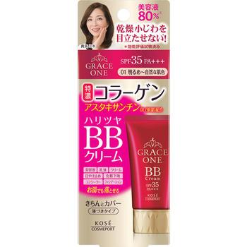 """KOSE Cosmeport """"Grace One"""" Увлажняющий BB-крем для лица """"Все в одном"""", после 50 лет, светлый бежевый, SPF35, туба 50 гр. (фото)"""