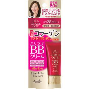 """KOSE Cosmeport """"Grace One"""" Увлажняющий BB-крем для лица """"Все в одном"""", после 50 лет, натуральный бежевый, SPF35, туба 50 гр. (фото)"""