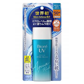 """KAO """"Biore - UV Aqua Rich"""" Солнцезащитный увлажняющий гель для тела и лица, SPF 50+, бутылка 90 мл."""