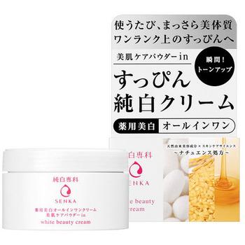 """SHISEIDO """"Pure White Senka"""" Увлажняющий крем """"Все-в-одном"""" для лица, против пигментных пятен, с маслом зародышей риса и медом, 100 гр. (фото)"""