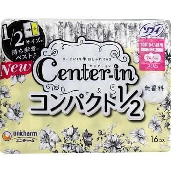 """Unicharm """"Center-in"""" Тонкие гигиенические прокладки - Super 24 см, с крылышками, пачка 17 шт. (фото)"""