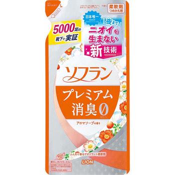 """Lion """"Soflan Premium Deodorizer Zero"""" Кондиционер для белья защищающий от неприятного запаха, натуральный аромат цветочного мыла, сменная упаковка, 450 мл. (фото)"""