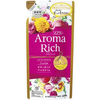 """Lion """"Soflan Aroma Rich Scarlet"""" Кондиционер для белья с богатым ароматом натуральных масел, сменная упаковка, 400 мл. (фото)"""