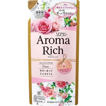 """Lion """"Soflan Aroma Rich Diana"""" Кондиционер для белья с богатым ароматом натуральных масел, сменная упаковка, 400 мл. (фото)"""