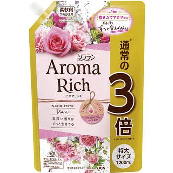 """Lion """"Soflan Aroma Rich Diana"""" Кондиционер для белья с богатым ароматом натуральных масел, сменная упаковка, 1200 мл. (фото)"""