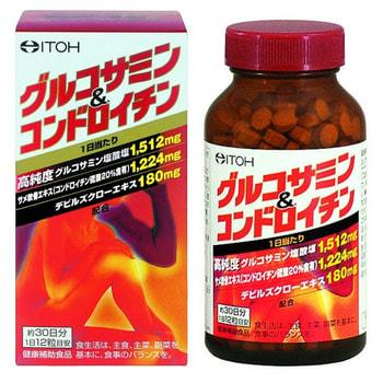 "Itoh Kanpo Pharmaceutical ""Glucosamine & Chondroitin"" Глюкозамин + Хондроитин, 360 таблеток на 30 дней приема."