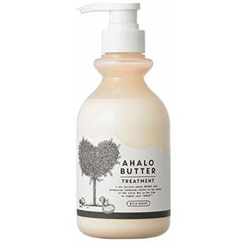 """Cosme Company """"Ahalo Butter Treatment Rich Moist"""" Восстанавливающий бальзам-ополаскиватель с тропическими маслами, йогуртом и мёдом, без сульфатов, 500 мл."""