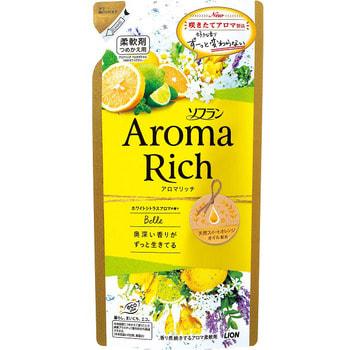 """Lion """"Soflan Aroma Rich Belle"""" Кондиционер для белья с богатым ароматом натуральных масел, сменная упаковка, 400 мл. (фото)"""
