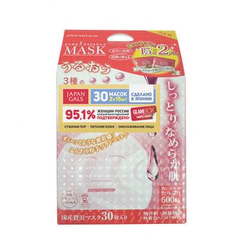 """Japan Gals """"Pure5 Essence Tamarind"""" Маска для лица с тамариндом и плацентой, 2 блока по 15 шт."""