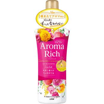 "Lion ""Soflan Aroma Rich Scarlet"" Кондиционер для белья с богатым ароматом натуральных масел, 520 мл. (фото)"
