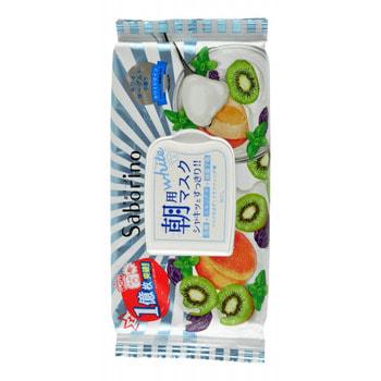 """B&C Laboratories """"Morning Facial Sheet Mask Fresh"""" Маска-салфетка для утреннего ухода за лицом """"Увлажнение и упругость"""", с ароматом йогурта и киви, 28 шт. (фото)"""