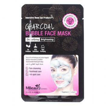 """MBeauty """"Charcoal Bubble Face Mask"""" Очищающая пузырьковая маска для лица с древесным углем, 20 мл."""
