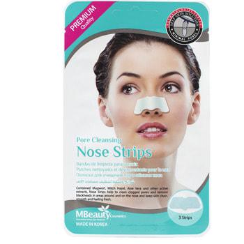 "MBeauty ""Pore Cleansing Nose Strips"" Маски-полоски для очищения пор в области носа, 3 шт."