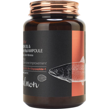"FarmStay ""FarmStay Salmon Oil &Peptide Vital Ampoule"" Многофункциональная ампульная сыворотка с маслом лосося и пептидами, 250 мл. (фото)"