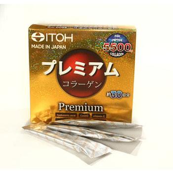 """Itoh Kanpo Pharmaceutical """"Premium Сollagen"""" - Низкомолекулярный рыбный премиум коллаген с добавлением 9-ти активных компонентов для красоты и здоровья, 30 саше по 6,5 гр. (фото)"""