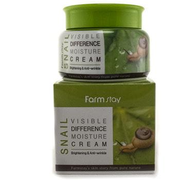 "FarmStay ""Snail Visible Difference Moisture Cream"" Крем для лица увлажняющий с муцином улитки, 100 гр."