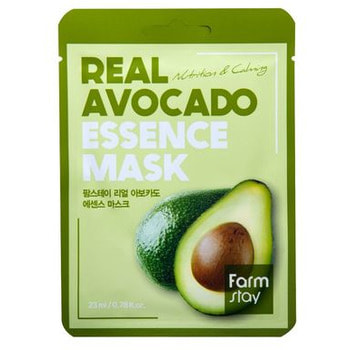 "FarmStay ""Real Avocado Essence Mask"" Тканевая маска для лица с экстрактом авокадо, 1 шт. (фото)"