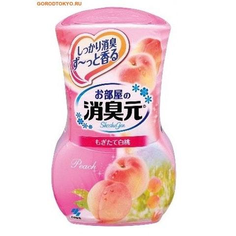 KOBAYASHI Oheyano Shoshugen Жидкий дезодорант для комнаты с ароматом персика, 400 мл.Для комнаты<br>Жидкие дезодоранты для комнаты серии Oheyano Shoshugen уничтожают неприятные запахи, наполняют дом свежими натуральными ароматами. <br> Срок действия: от 1,5 до 3 месяцев в зависимости от условий помещения.<br>