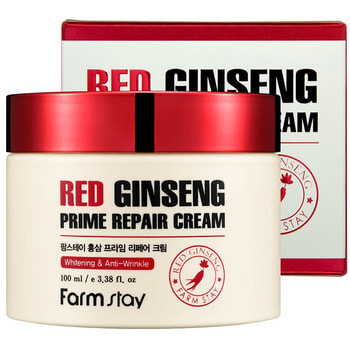 "FarmStay ""Red Ginseng Prime Repair Cream"" Восстанавливающий крем с экстрактом красного женьшеня, 100 мл. (фото)"