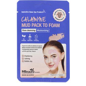 "MBeauty ""Calamine Mud Pack To Foam"" Каламиновая маска-пенка для очищения пор, 7 мл х 3 шт."