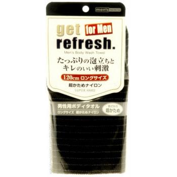 """Yokozuna """"Get refresh for Men Super Hard"""" Мочалка-полотенце сверхжёсткая для мужчин, чёрная. (фото)"""