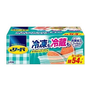 """Lion """"Reed"""" Пакет с двойной молнией для длительного хранения и замораживание продуктов и готовых блюд в холодильнике или морозильнике, 54 шт. Размер М (20,6х17,8 см)."""