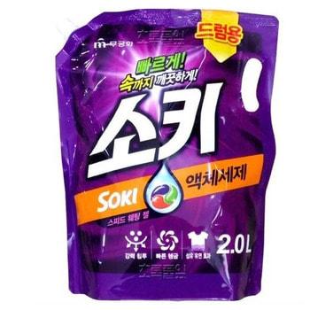 """Mukunghwa """"Soki"""" Жидкое средство для стиркив автоматических стиральных машинах с горизонтальной загрузкой, сменная упаковка, 2 л."""