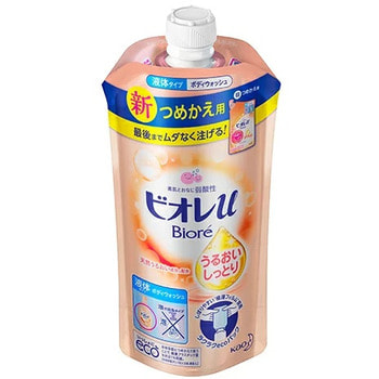 """KAO """"Biore U"""" Мягкое пенное мыло для всей семьи, с увлажняющим эффектом, фруктово-цветочный аромат, сменная упаковка, 340 мл."""