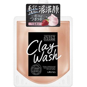 """Utena """"Juicy Cleanse"""" Пенящийся скраб для лица из глины, с аргановым маслом и экстрактом клубники, 110 гр."""